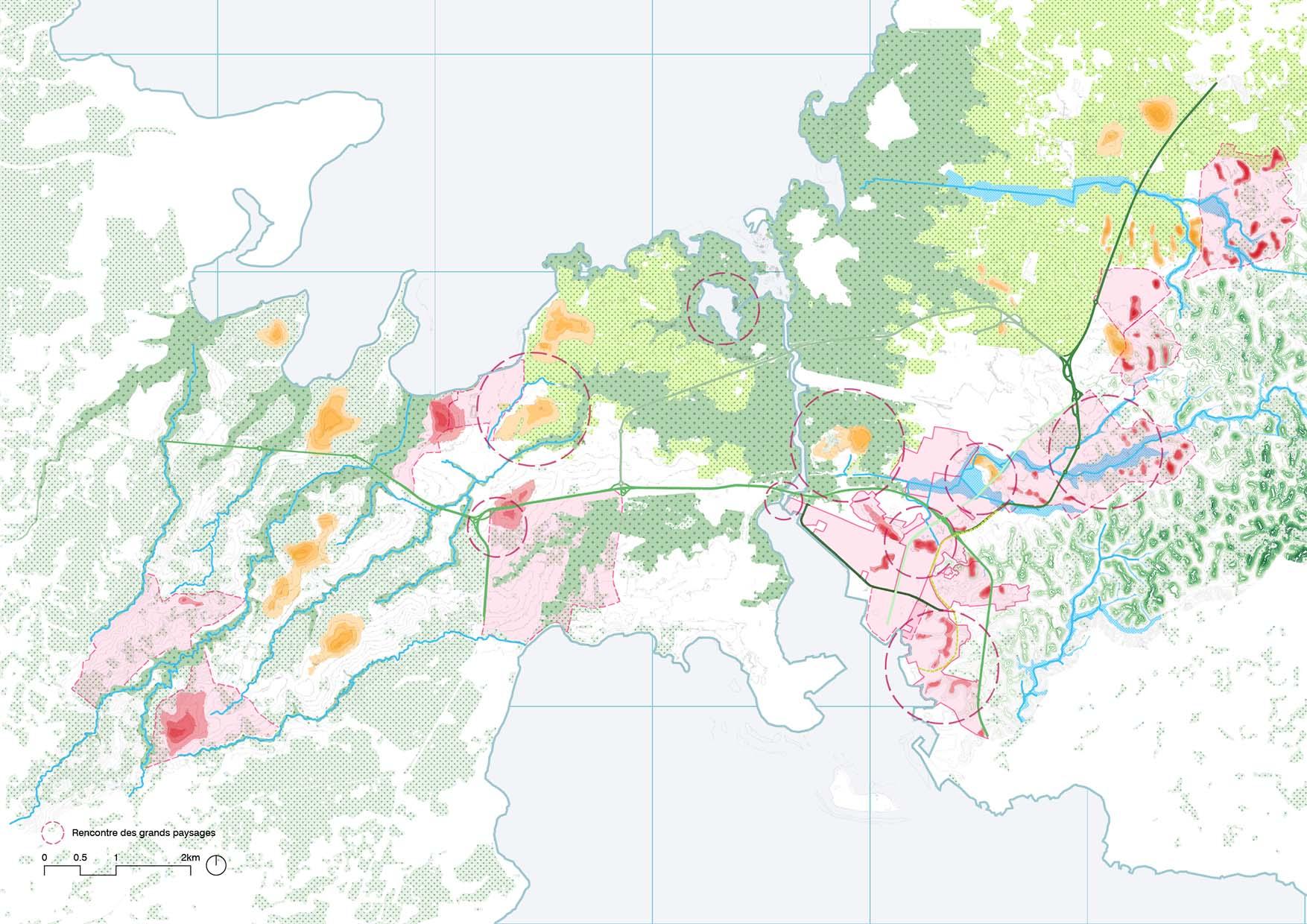 schéma de territoire de la guadeloupe a grande échelle