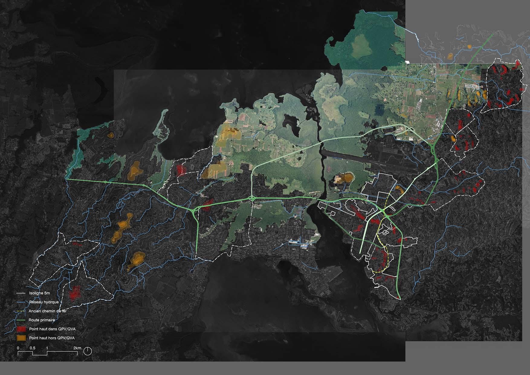 cartographie des forces payagères de la guadeloupe. Planification urbain à grande échelle