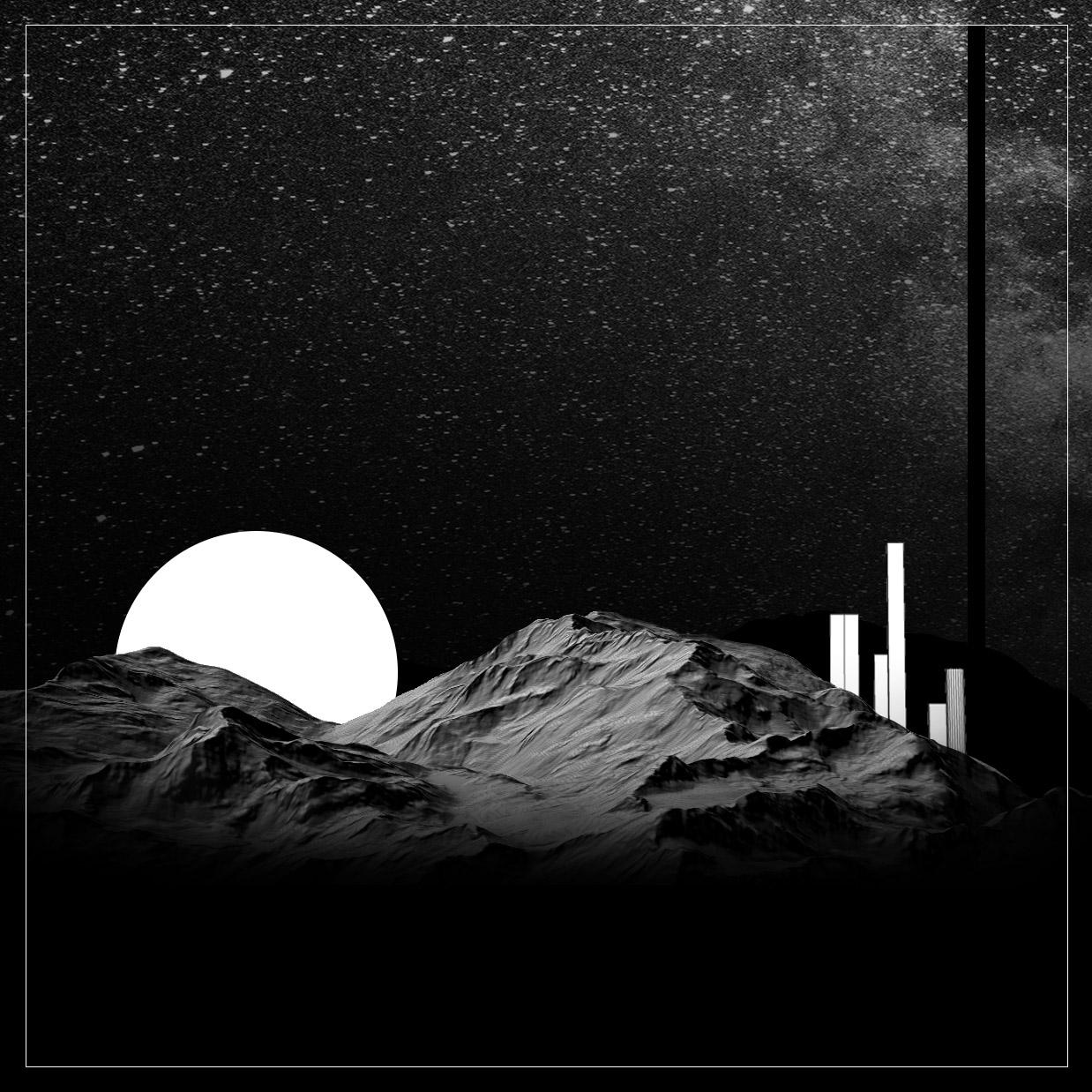 diane Laboratoire et urbanisme d'un Relief issu d'un MNT, montagne sous la lune issu du laboratoire actéon