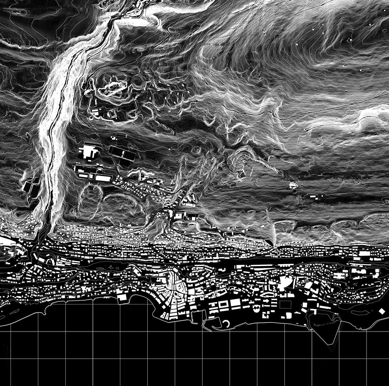 diane Aménagement du territoire de la ville de Neuchâtel vu par actéon