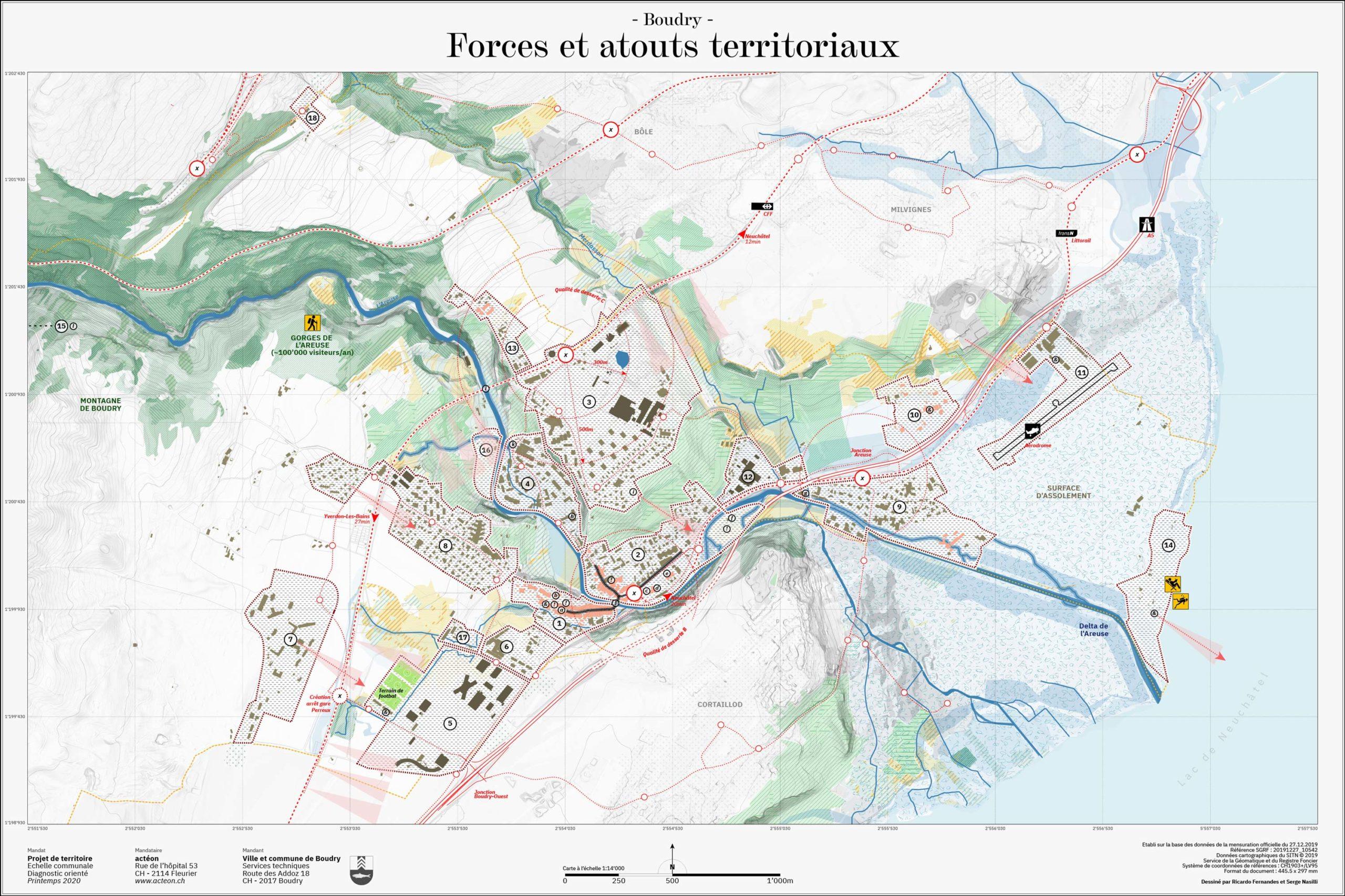 Projet de territoire Boudry cartographie actéon