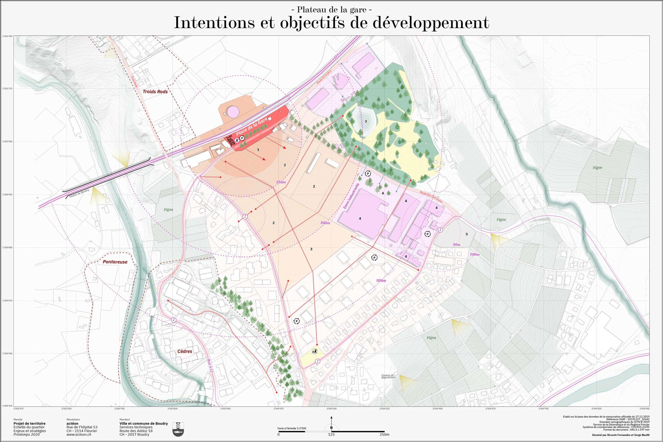 Paysage et urbanisme de la commune de Boudry