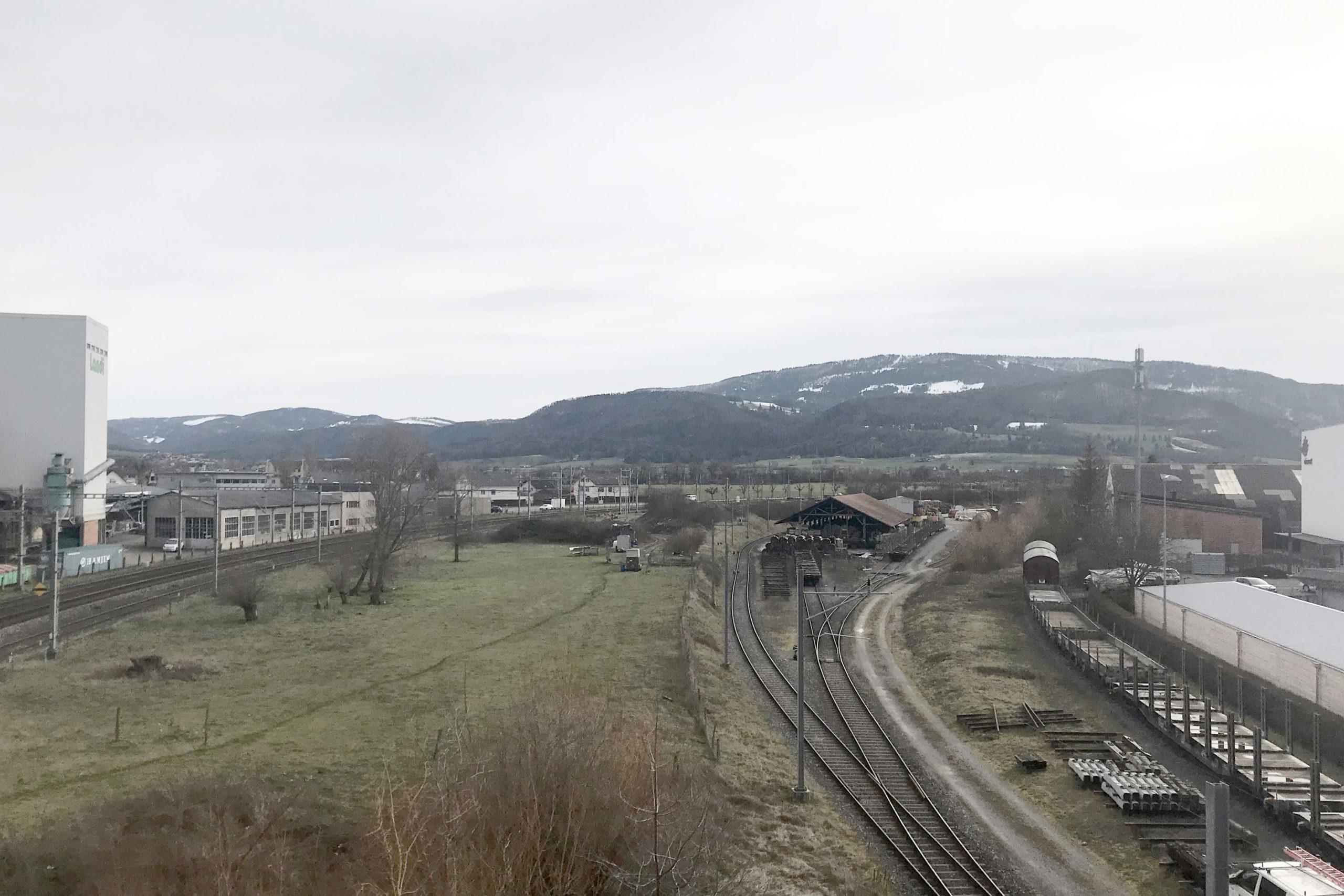 MEP sur Gare Sud à Delémont - parc ferroviaire