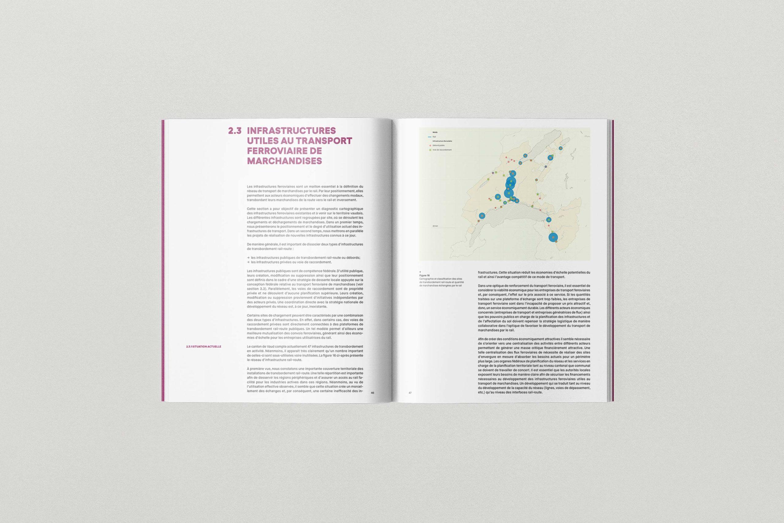 Transport de marchandises - Maquette brochure
